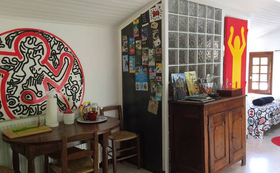 The Keith Haring studio